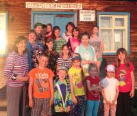 С детьми в Пировском районе